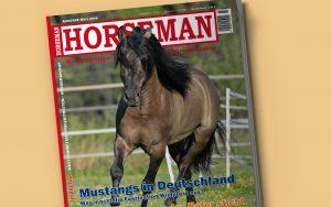 Horseman März 2018 mit großem Artikel zu Mustang Pferden