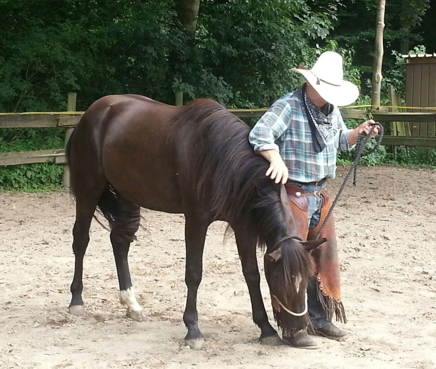 Sari (Suffield Mustang) und Martin Schmitz